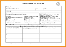 Job Safety Analysis Template Free Gorgeous Job Hazard Analysis Form Template Free Templates Jha Rio Tinto Jsa
