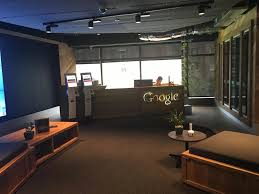 the google office. The Reception Is Pretty Standard. Google Office