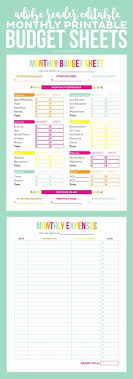 Budget Worksheet For Kids Inspirational Free Printable Bud ...