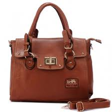 Coach Sadie Flap In Spectator Medium Brown Satchels AOI
