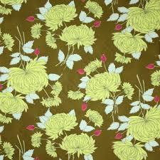 Amy Butler Home Decor Fabric Amy Butler Belle Chrysanthemum Olive Fabric Emerald City Fabrics