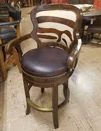 mesquite and zebra printed hide bar stool