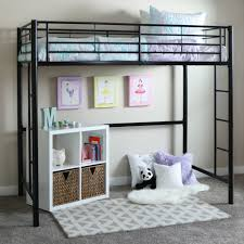 Walker Edison Twin Metal Loft Bed Multiple Colors Walmart Along With  Gorgeous Cribs To College Bunk