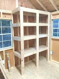 shed storage shelves diy
