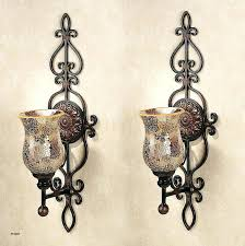 candle sconces pottery barn wall holders bronze reindeer holder spiral
