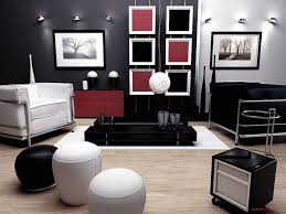 Modern Living Room Black And White Living Room White Futons Gray Sofa White Pendant Lights Gray Rug