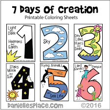 creation coloring sheet seven days of creation coloring sheets for younger children kids