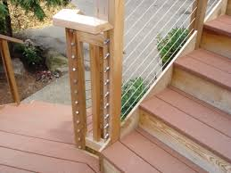wire rope deck railing
