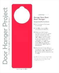 Free Door Hangers Templates Door Hangers Paper Hanger Template For Word Best Of Free
