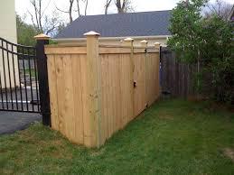 Custom Privacy Fence Designs Custom Privacy Trim Board Cap Board And Copper Post Caps
