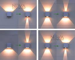 cree outdoor wall light led up down wall sconces adjule wall lamp garden light ip65