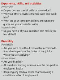 Questions About Employment Job Interviews Permissible And Impermissible Questions