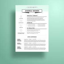 Graphic Design Resume Templates Delectable Creative And Professional Resume Template In Microsoft Word Cv With