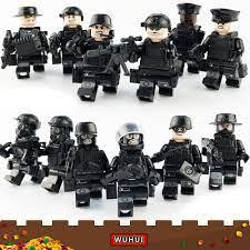 Báo giá WUHUI 12 CÁI SWAT Quân đội Quân đội WW2 Bộ đồ chơi xây dựng đồ chơi  nhỏ LeGoIng Khối xây dựng đồ chơi SWAT Đội cảnh sát thành phố Partisans