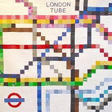 london tube quilt tube map patchwork quilt underground subway ... & london tube quilt tube map patchwork quilt underground subway metro chart  quilt london england uk transport Adamdwight.com