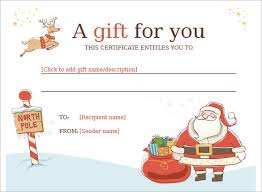 Shopping Spree Gift Certificate Template Christmas Gift Certificate Template 11 Word Pdf Documents