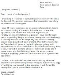 Sample Electrician Cover Letter Electrician Cover Letter Sample