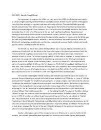 An Example Of A Good Dbq Essay Www Moviemaker Com