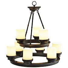 awesome mesmerizing round bronze copper chandelier and white chandelier