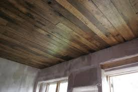 A Rustic Barn Board Ceiling For The Cottage Basements Ceiling