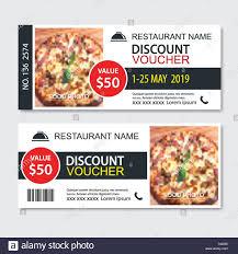 Discount Gift Voucher Fast Food Template Design Pizza Set