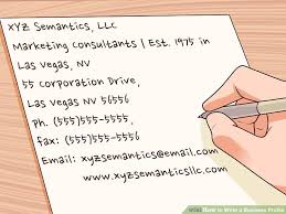 How To Write A Profile Expert Advice On How To Write A Business Profile Wikihow