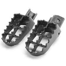 yamaha pw80. new black steel mx foot pegs for yamaha motocross pw50 80 ttr90 tw200 1981-2012 pw80