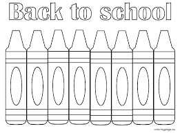welcome back to school coloring pages crayons crayon color sheet printable yellow
