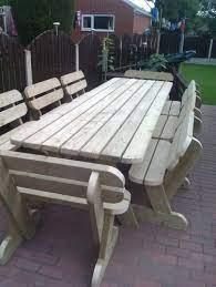 heavy duty garden picnic pub table and
