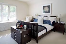 white bedroom with dark furniture. transitional bedroom dark brown furniture white with d