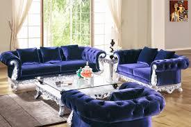 Luxury Living Room Furniture Furniture Blue Velvet Tufted Couches For Luxury Living Room Decor