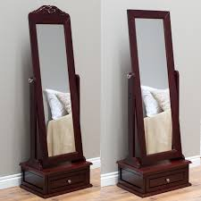 Belham Living Removable Decorative Top Cheval Mirror - Cherry - 21.5W x 60H  in. | Hayneedle