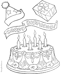 Small Picture Birthday Cake Coloring Page 001