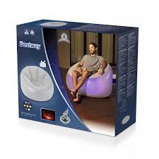 "<b>Bestway Надувное кресло</b> 97х102x71см ""Inflate-A-Chair"" с Led ..."