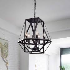 Otis Designs Lighting Fixtures 5 Light Antique Black Iron Chandelier Urban Echo Shop