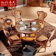 get ations round dining tables and chairs combination of rattan wicker chair rattan dining table and living room