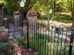 4ft iron victorian hoop fence installed by a husband and wife
