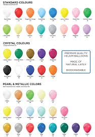 Balloon Color Chart Balloon Colour Chart Granger