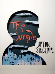 cut out book cover the jungle by upton sinclair