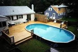 above ground pool with deck attached to house. Above Ground Pools Decks Idea - Bing Images There Are Some Very Cool Ones In Here! Wonder If Is A Low Budget Version . Pool With Deck Attached To House O