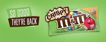 so good they re back crispy m m s