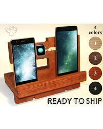 Docking station wood Apple dock station Charging station organizer iWatch  stand Phone stand Desk organizer iPhone