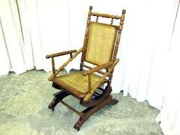 antique platform rocking chair identification parts