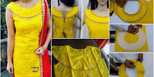 Punjabi Suit Gale Design Party Wears Kurti Stylish Boat Neck Designs In 2020 Silk