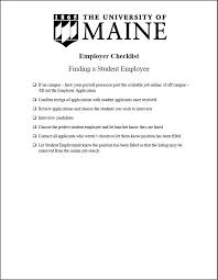 Employer Interview Checklist Finding A Student Employee Employer Checklist Student Employment