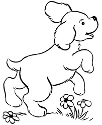 Cute Dog Coloring Pages Color Bros
