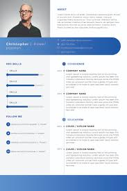 Resume Template With Photo 100 Best 100's Creative ResumeCV Templates Printable DOC 40