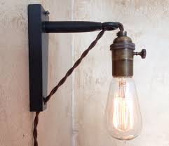 lighting fascinating corded vanity light fixtures led bar wall fixture fitting cable lights home plug outdoor sconces without wiring copper house west elm