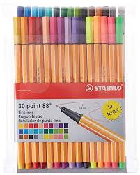 Stabilo Point 88 Fineliner Pens 0 4 Mm 30 Color Set