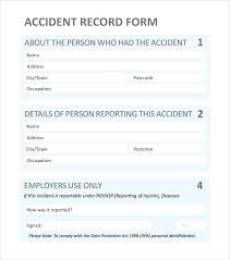 Traffic Accident Report Form Template Free Vehicle Word